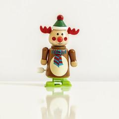 Christmas figure wind up toy reindeer