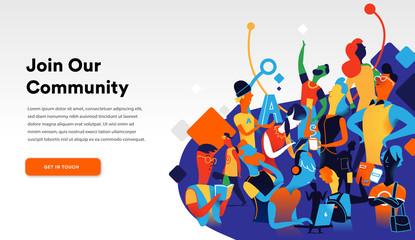 Join the Community Landing Page
