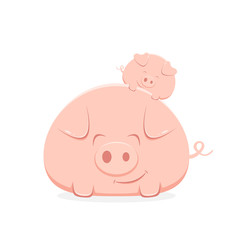 Big and Little Happy Pigs
