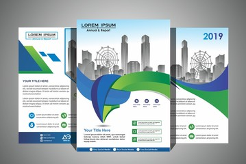 Abstract vector modern cover flyers brochure / annual report /design templates / stationery with layout background in size a4