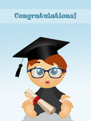illustration of baby graduate