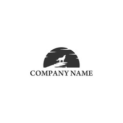 Wolf in the dark night Logo