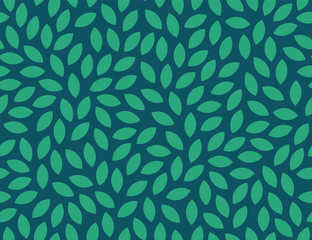 Leaves Pattern. Endless Background. Vector