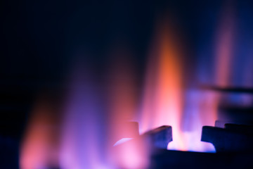 Gas burning frame abstract background.