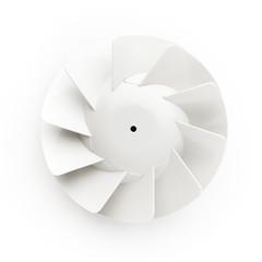 duct fan propeller on white