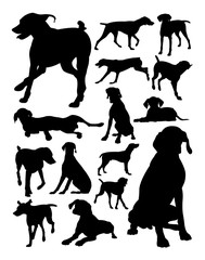 German shorthaired pointer dog animal silhouette. Good use for symbol, logo, web icon, mascot, sign, or any design you want.