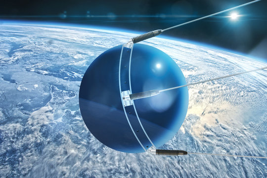 sputnik approaches the earth
