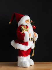 Santa Claus figure side view