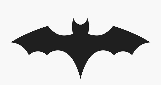 Black bat icon
