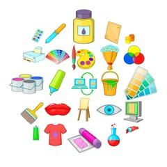 Artisan icons set. Cartoon set of 25 artisan vector icons for web isolated on white background