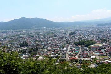 Yamanashi Prefecture, Japan - July 10, 2017: Chureito Pagoda, View on the way to Chureito   Pagoda.
