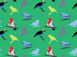 Bird Cardinal Tanager Wallpaper 2