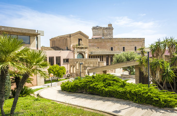 indoor garden to the National Archaeological Museum in the Castle district of Cagliari (The Cidadel of museums), Sardinia. The Museum is in the historic center of Cagliari