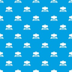 Vegetables pattern vector seamless blue repeat for any use