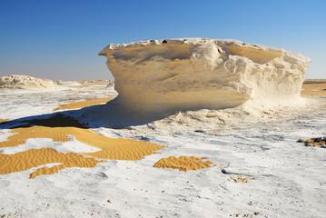 Fototapete - The limestone formation in White desert Sahara Egypt