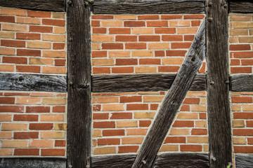Fachwerk Wand Nahaufnahme