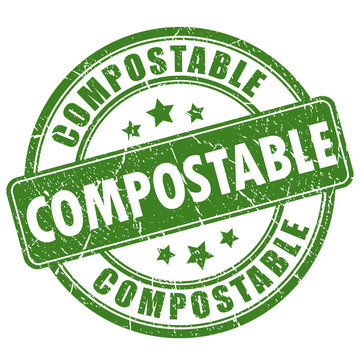 Compostable round stamp