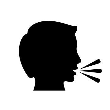 Talking man vector icon