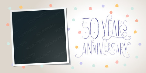 50 years anniversary vector icon, logo. Template design element