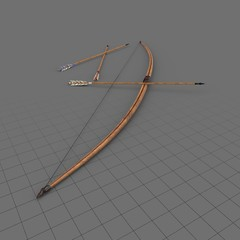 Medieval bow and arrows