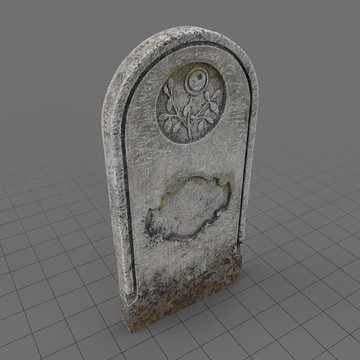 Ancient headstone with ornate design