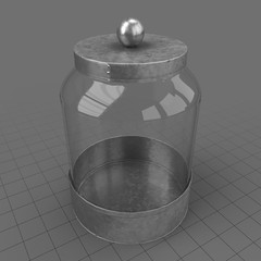 Empty glass canister 3