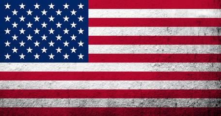 United States of America (USA) national flag. Grunge background