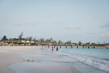 View of Carlisle Bay, Bridgetown, Barbados, at dusk.