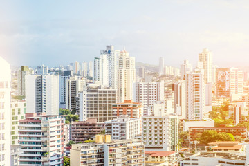 modern city skyline - cityscape aerial