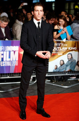 Actor Chris Fulton arrives at the European Premiere of Outlaw King during the London Film Festival, in London