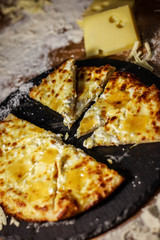 Tasty pizza with cheese