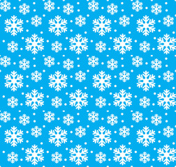 seamless pattern in snowflakes christmas and new year
