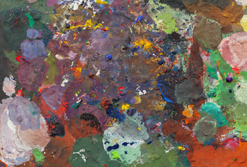 abstract oil painting on palets