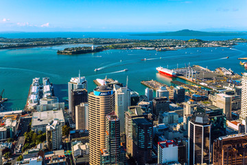 The modern city of Auckland