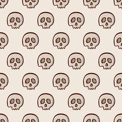 Skulls seamless pattern.