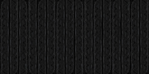 Vector dark black wood texture background. Wooden wall. Old grunge retro panels. EPS10