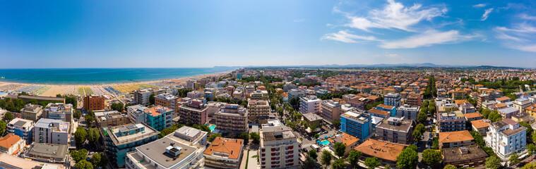 aerial panorama in rimini