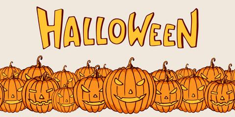 Color cartoon shapes on Halloween theme.