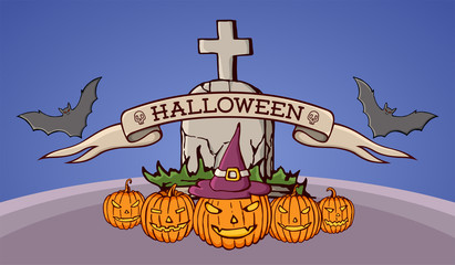 Color cartoon shapes on Halloween theme.