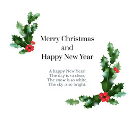 Holly festive card