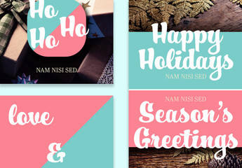 Holiday Social Media Post Layouts