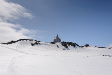 Foto op Plexiglas Antarctica Wooden church in Antarctica