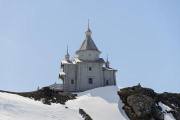 Papiers peints Antarctique Wooden church in Antarctica