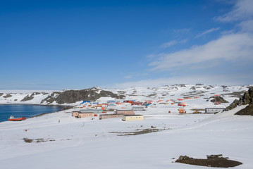 Bellingshausen Russian Antarctic research station on King George island