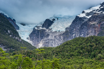 Poster Glaciers Ventisquero Colgante (Hanging Glacier) of Queulat National Park, Chile