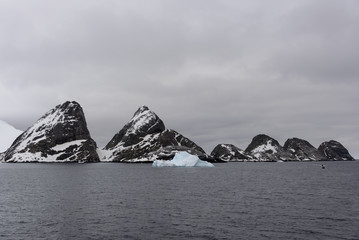 Rocks in Antarctic sea