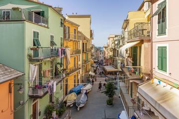 A glimpse of the historic center of Manarola, Cinque Terre, Liguria, Italy