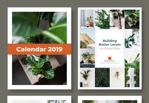 12 Month 2019 Calendar  With Planner and US Holiday