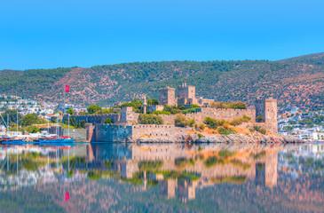 Saint Peter Castle (Bodrum castle) and marina in Bodrum, Turkey