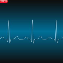 Cardiology concept with pulse rate diagram